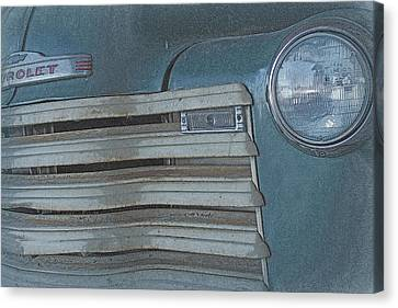 Canvas Print featuring the photograph Old Blue by Lynn Sprowl