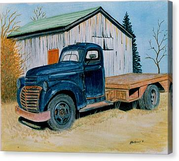 Old Blue Canvas Print