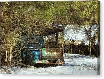 Old Blue Tucked Away Canvas Print by Benanne Stiens