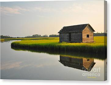 Old Boathouse Canvas Print