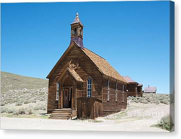 Canvas Print featuring the photograph Old Bodie Church by Vinnie Oakes