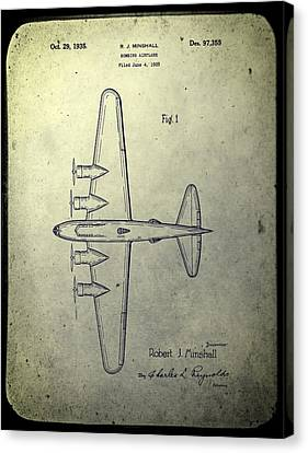 Old Bombing Aircraft Patent Canvas Print by Dan Sproul