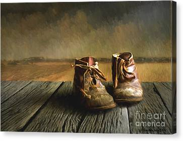 Old Boots Canvas Print