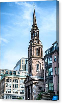 Canvas Print featuring the photograph Old Boston by Boris Mordukhayev