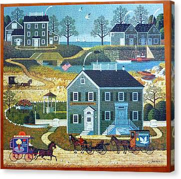 Old Boston Puzzle Canvas Print by Mountain Dreams