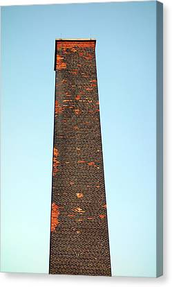 Industrial Background Canvas Print - Old Brick Stack by Valentino Visentini