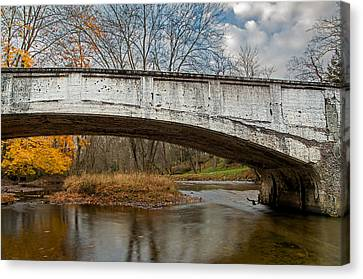 Old Bridge In Autumn Canvas Print