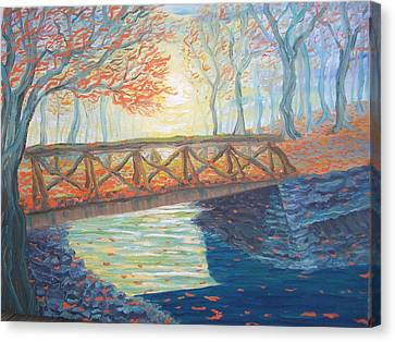 Old Bridge Of Sleepy Hollow Canvas Print by Chris RoseS