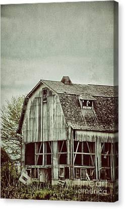 Old Broken Barn Canvas Print