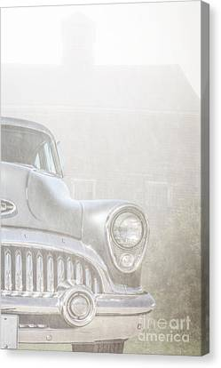 Old Buick Out By The Barn Canvas Print by Edward Fielding