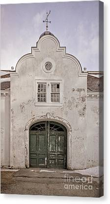 Old Building From The Guilded Age With Weathervane Canvas Print