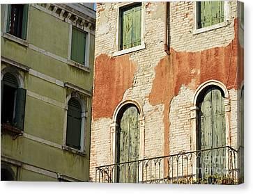 Old Buildings Facades Canvas Print by Sami Sarkis