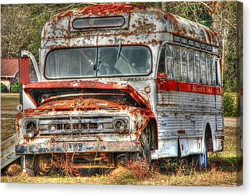 Old Bus 01 Canvas Print by Andy Savelle