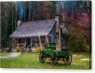 Old Cabin Canvas Print by Deborah Scannell