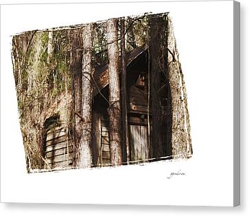 Old Cabin In Georga Canvas Print by Gary Gunderson