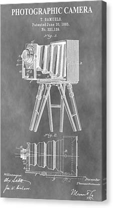 Old Camera Patent Canvas Print