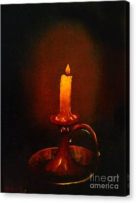 Old Candle Stick Painting Canvas Print