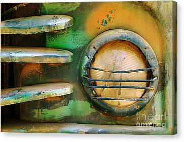 Grill Canvas Print - Old Car Headlight by Carlos Caetano