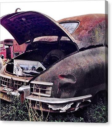 Old Car Canvas Print by Julie Gebhardt