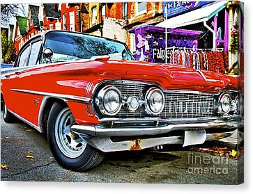 Canvas Print featuring the photograph Old Car by Sarah Mullin