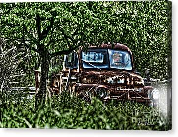 Old Car With Ghost Driver Canvas Print by Dan Friend