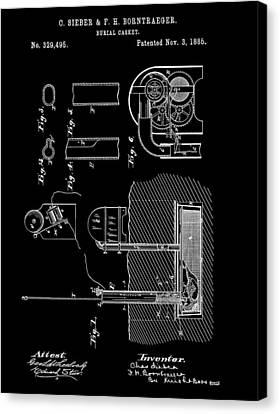 Old Casket Patent Canvas Print