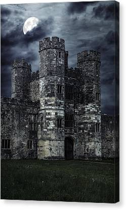 Old Castle At Night Canvas Print