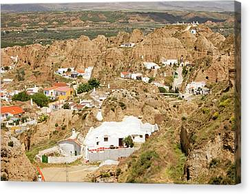 Old Cave Houses In Guadix Canvas Print