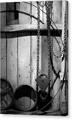 Chained Canvas Print - Old Chain With Hook by Tommytechno Sweden