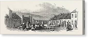 Old Chapel Road, Dungarvan, A Scene Of The Late Food Riots Canvas Print
