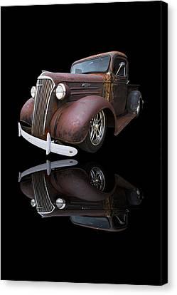 Old Chevy Canvas Print by Debra and Dave Vanderlaan