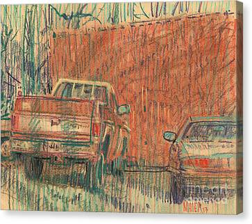 Old Chevy Canvas Print by Donald Maier