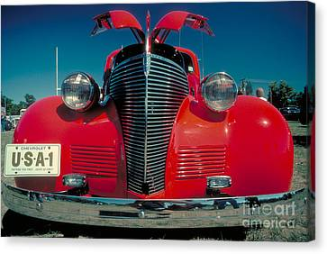 Red Chev Canvas Print - Old Chevy by Jerry McElroy