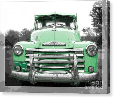 Old Chevy Pickup Truck Canvas Print by Edward Fielding