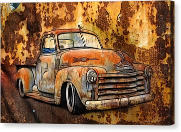 Old Chevy Rust Canvas Print