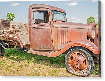 Canvas Print featuring the photograph Old Chevy Truck by Sue Smith