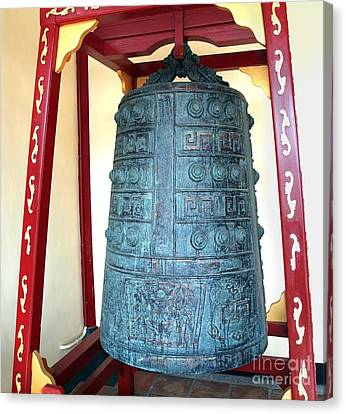 Old Chinese Bronze Bell Canvas Print