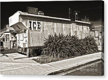 Old Chino Ice House - Sepia Toned Canvas Print by Gregory Dyer