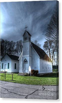 Old School Houses Canvas Print - Old Church And School House by Jimmy Ostgard