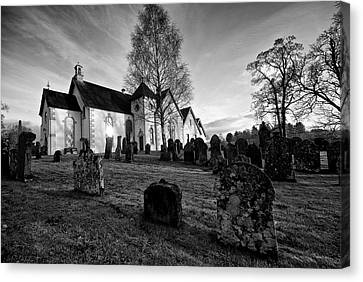 Canvas Print featuring the photograph Old Church At Drymen by Stephen Taylor