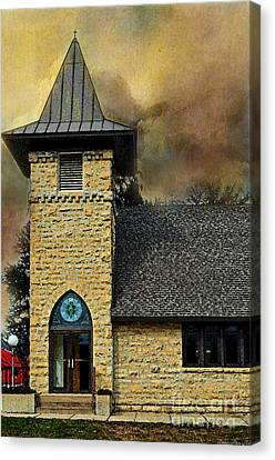 Old Church Details Photoart Canvas Print by Debbie Portwood