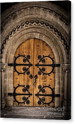 Old Church Door Canvas Print by Edward Fielding