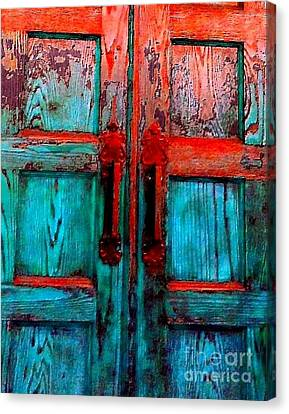 Old Church Door Handles 2 Canvas Print