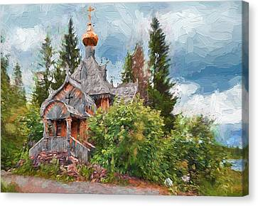Old Church In Forest 2 Canvas Print