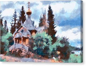 Old Church In Forest Canvas Print