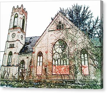 Old Church In Fresco Canvas Print