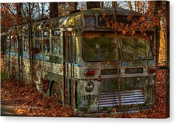 Old City Bus Canvas Print by Paul Herrmann