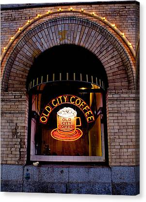 Old City Coffee Canvas Print
