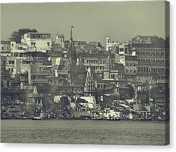 Old City Canvas Print by Girish J