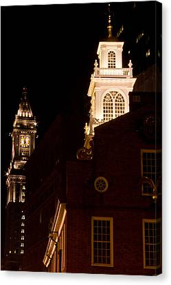 Custom House Tower Canvas Print - Old City Hall And Custom House Tower by John McGraw